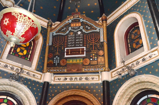 Maghen David synagogue menorah